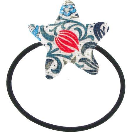 Estrella elástica para el pelo azulejos