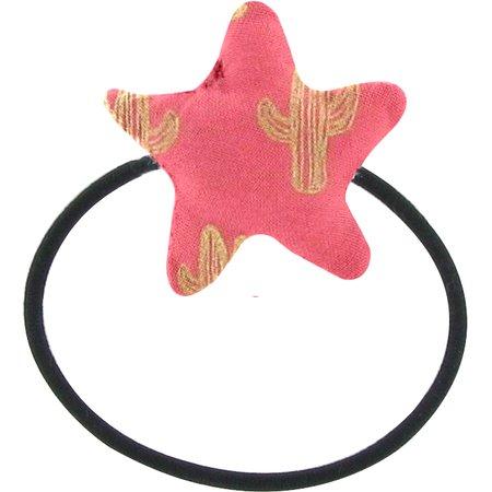Elastique cheveux étoile cactus or