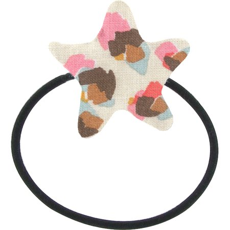 Pony-tail elastic hair star confetti aqua