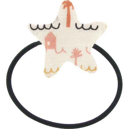 Pony-tail elastic hair star   copa-cabana