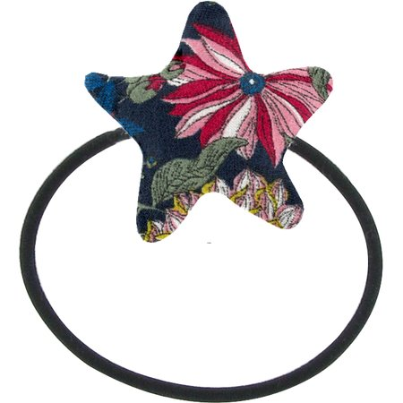 Pony-tail elastic hair star pink blue dalhia