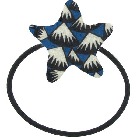 Pony-tail elastic hair star parts blue night