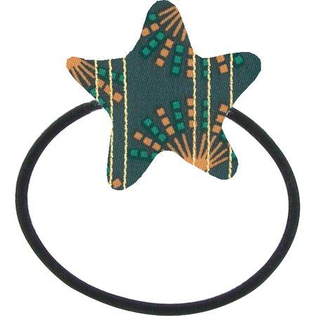 Elastique cheveux étoile eventail or vert