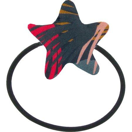 Pony-tail elastic hair star fireworks