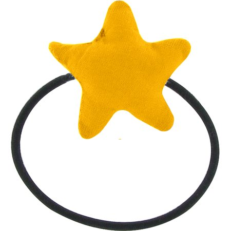 Pony-tail elastic hair star yellow ochre