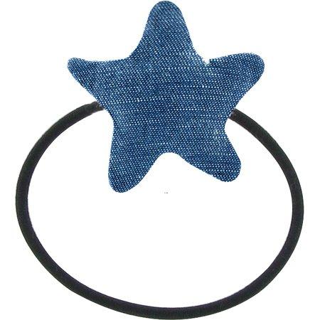 Elastique cheveux étoile jean fin