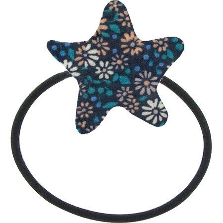 Elastique cheveux étoile paquerette marine