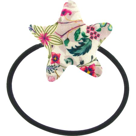 Pony-tail elastic hair star spring