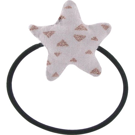 Pony-tail elastic hair star triangle cuivré gris