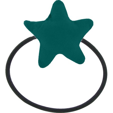 Pony-tail elastic hair star emerald green