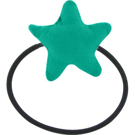 Pony-tail elastic hair star green laurel