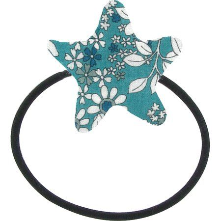 Pony-tail elastic hair star celadon violette