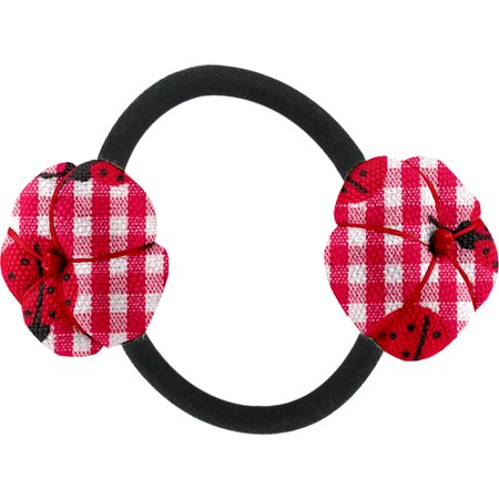 Japan flower pony-tail holder ladybird gingham