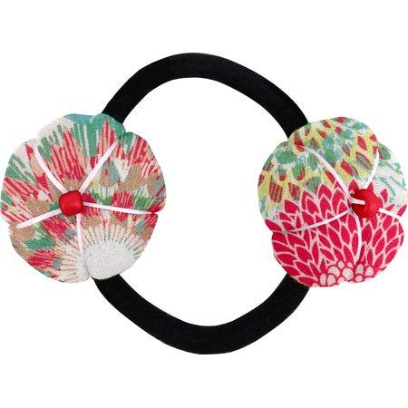 Elastique fleur du japon dahlia poudré