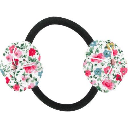 Goma de pelo con flores rosario