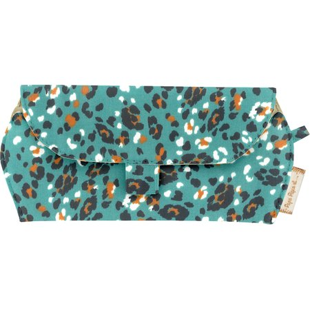 Glasses case jade panther