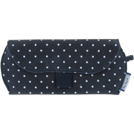 Glasses case navy blue spots