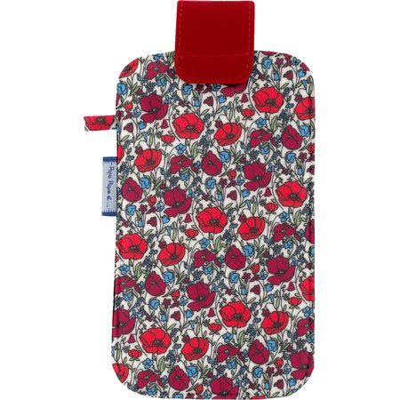 Big phone case poppy