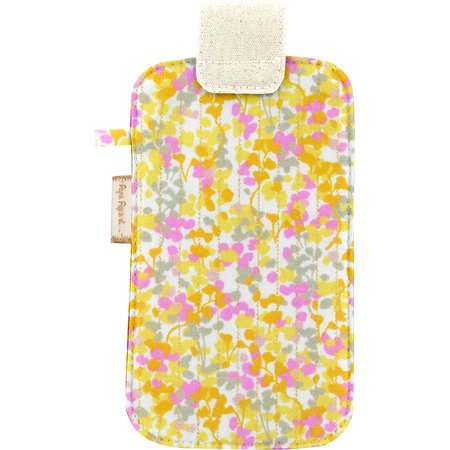 Etui téléphone portable mimosa jaune rose