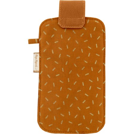 Phone case caramel golden straw