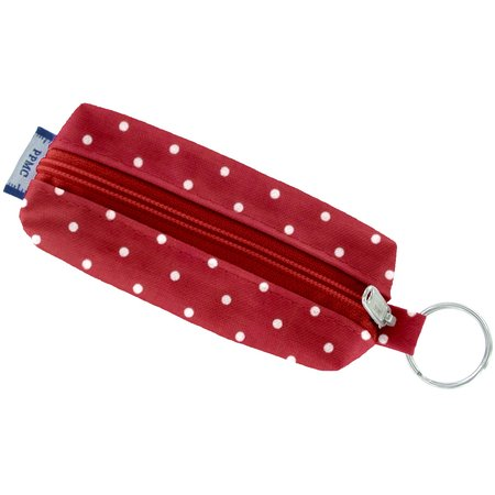 Etui porte-clé pois rouge