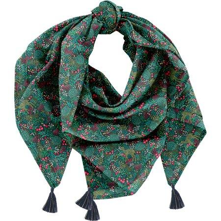 Pom pom scarf deer