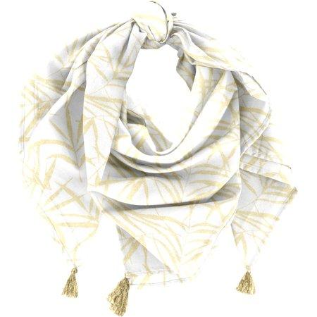 Pom pom scarf ramage gold
