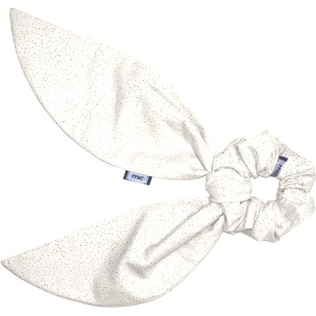 Short tail scrunchie white sequined