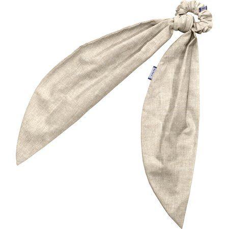 Long tail scrunchie  glitter linen