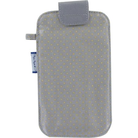 Big phone case etoile or gris