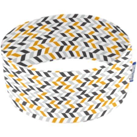 Turbantes elasticos chevrons gris jaune