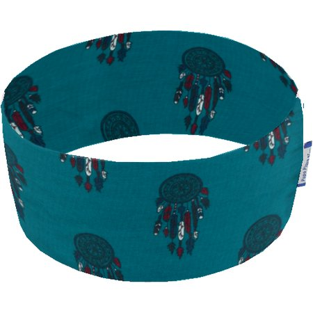 Stretch jersey headband  plume turquoise c5