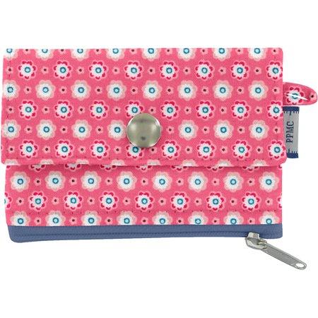 Mini pochette porte-monnaie  fleurette blush