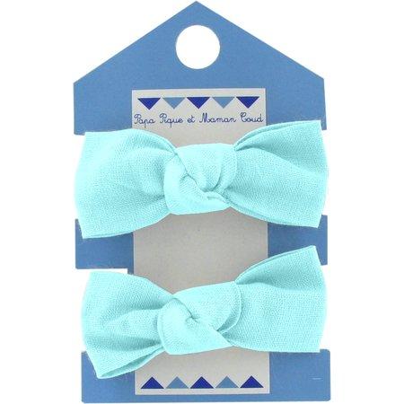Small elastic bows azur