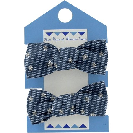 Small elastic bows etoile argent jean