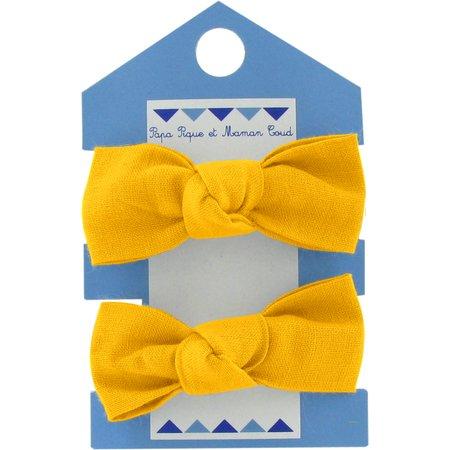 Small elastic bows yellow ochre