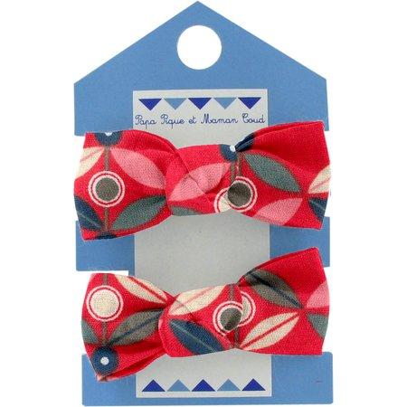 Small elastic bows paprika petal