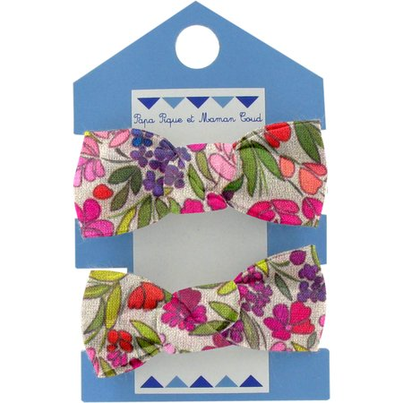 Small elastic bows purple meadow
