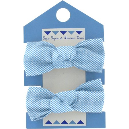Small elastic bows oxford blue