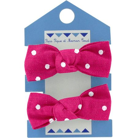 Small elastic bows fuschia spots