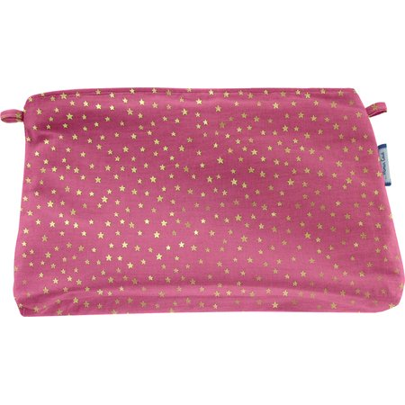 Coton clutch bag etoile or fuchsia