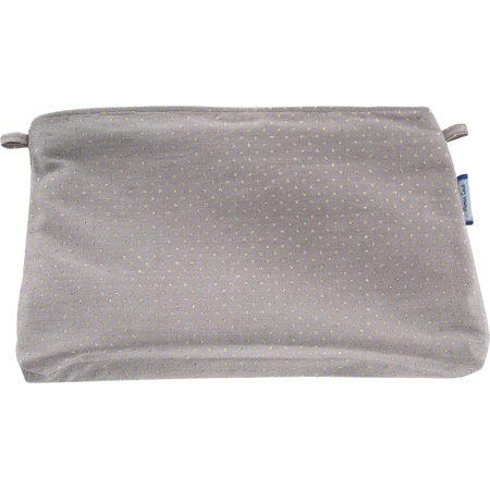 Pochette tissu etoile or gris