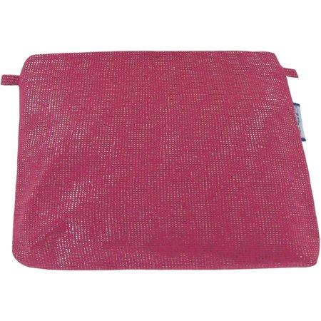Pochette coton fuchsia argent