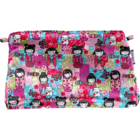 Coton clutch bag kokeshis