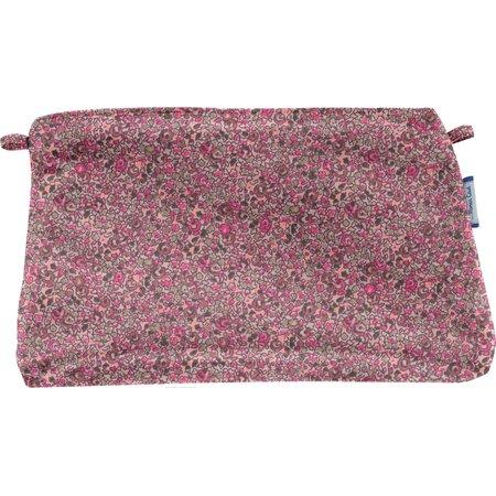 Pochette coton lichen prune rose