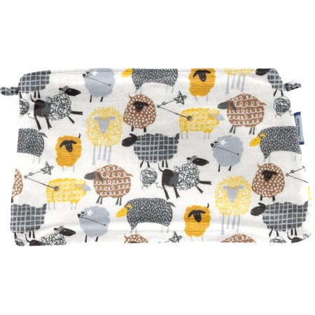Coton clutch bag yellow sheep