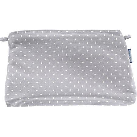 Coton clutch bag light grey spots