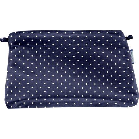 Coton clutch bag navy blue spots