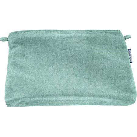 Pochette coton suédine bleu nordique