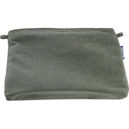 Coton clutch bag suédine kaki